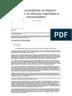 Entrevista Sarrión 2008. Los surrealistas se dejaron envolver en alianzas impropias e intransitables