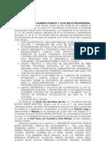 ACTA DE SESIÓN NUMERO OCHENTA Y OCHO (88) EXTRAORDINARIA 26 de junio de 2012