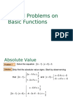 PC FUNCTIONS Basic Function Problems