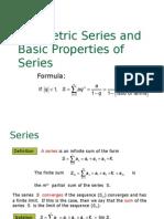 PC FUNCTIONS Geometric Series