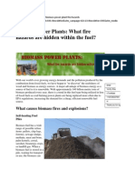 Biomass Power Plants What Fire Hazards Are Hidden Within the Fuel