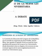 Nueva Ley Universitaria