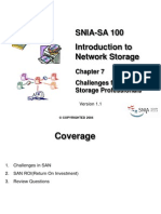SNIA-SA 100 Chapter 7 Challenges for Network Storage Profess
