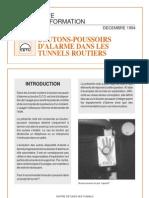 N.i-boutons-Poussoirs d'Alarme Dans Les Tunnels Routiers