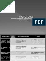 PRESENTACION PROFOS 2013