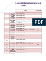Cronograma2013-2 Geometria Vectorial