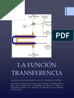 LA FUNCIÓN TRANSFERENCIA