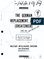 The German Replacement Army (Ersatzheer) April 1944