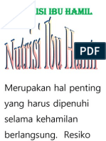 Nutrisi Ibu Hamil Tulis