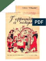 Langue Française J'apprends à rédiger collection Essentiel 1968
