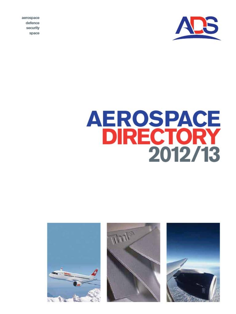 Ads Aerospace Directory 2012 13 United Kingdom Trailer Wiring Harness Installation 2005 Saab 93 Video