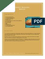 Sweet Banana Bread Recipe