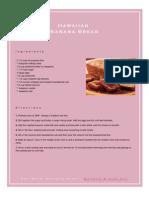 Hawaiian Banana Bread Recipe
