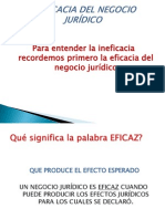INEFICACIA DEL NEGOCIO JURÍDICO (1)