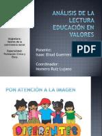 análisis de la lectura educación en valores.pptx