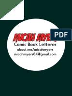 Micah Myers- Comic Book Lettering Portfolio