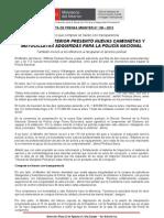 MINISTRO DEL INTERIOR PRESENTÓ NUEVAS CAMIONETAS Y MOTOCICLETAS ADQUIRIDAS PARA LA POLICÍA NACIONAL (2)