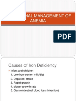 Nutritional Management of Anemia