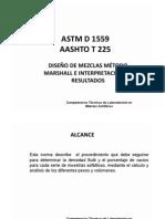 DISEÑO DE MEZCLAS MÉTODO MARSHALL