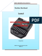 Machine Shorthand--Lesson 8