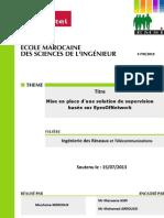 "Rapport Mouhsine MERZOUK ""Supervision Eyes Of Network """
