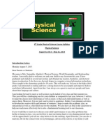 9th grade physical science course syllabus