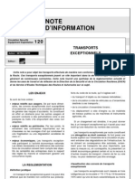 Note d'Information - Transports Exceptionnels