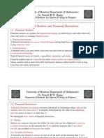 Financial Markets and Financial Derivatives