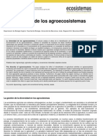 Diversidad de Agroecosistemas