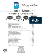 Aerator Circulator Owners Manual Kasco