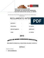 Reglamento Interno Sincae