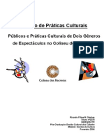 Estudo de Práticas Culturais de 2 Públicos Diferenciados de 2 Espectáculos no Coliseu dos Recreios