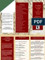 1er. Coloquio Las Ciencias Sociales en el Noreste de México [PROGRAMA]