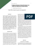 Estimating Soybean Production Efficiency in Irrigated Area of Brantas River Basin