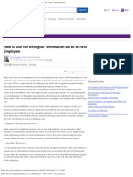 How to Sue for Wrongful Termination as an at-Will Employee - Yahoo! Voices