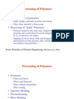 Processing of Polymers