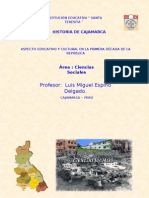 Aspecto Educativo y Cultural en Cajamarca