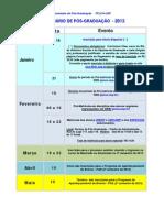 2013 Calendário da Pós-Graduação 2013 OKK_0