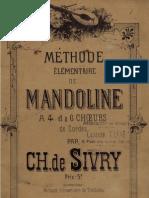 Sivry Methode Elementaire de Mandoline
