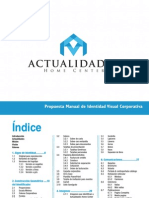 Manual de Identidad Corporativa ACTUALIDADES HOME CENTER