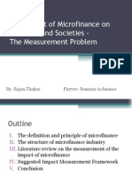 The Impact of Micro Finance on Investors and Societies the Measurement Problem.ppt