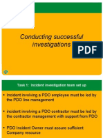 Roles and Resp Conducting Investigation