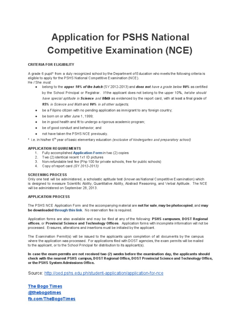Applicationfor pshs national competitive examination nce applicationfor pshs national competitive examination nce educational buildings philippines thecheapjerseys Gallery