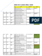 Calendario de Clases Imq i 2009