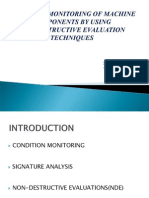 Condition Monitoring Through Non Destructive Technique Ppt