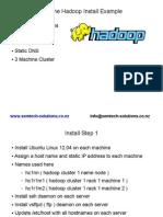 An example Hadoop Install