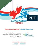Guide de presse – CanoeKayak Canada Jr-M23