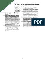 USMLE Step I Comprehensive Review - Term List