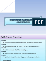 Construction Management Administration