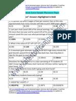 ISRO Sample Aptitude Placement Paper